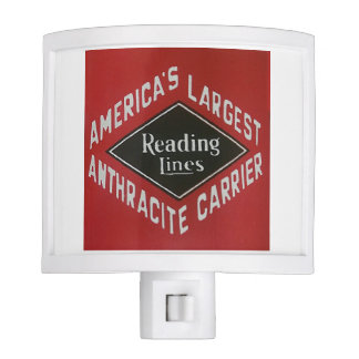 Reading Lines America's Largest Anthracite Carrier Night Light