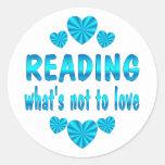 READING LOVE CLASSIC ROUND STICKER