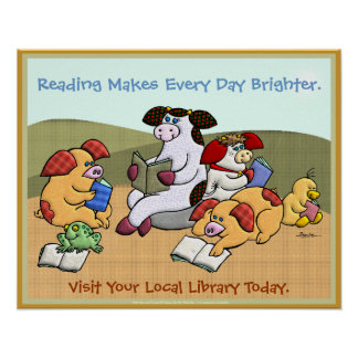 Reading Makes Every Day Brighter Posters