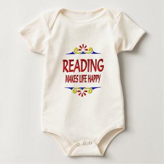 Reading Makes Life Happy Baby Bodysuit