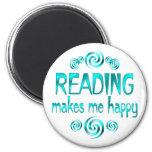 Reading Makes Me Happy Fridge Magnet