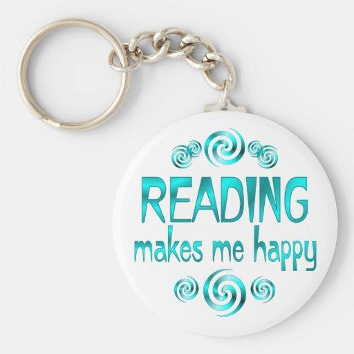 Reading Makes Me Happy Keychain
