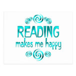 Reading Makes Me Happy Post Card
