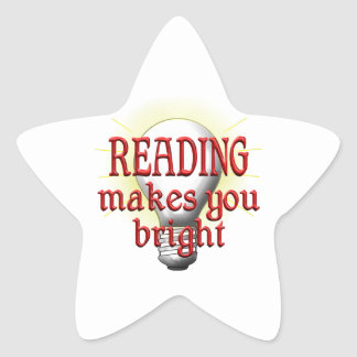 Reading Makes You Bright Star Sticker