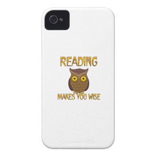 Reading Makes You Wise iPhone 4 Cover