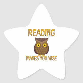 Reading Makes You Wise Star Sticker