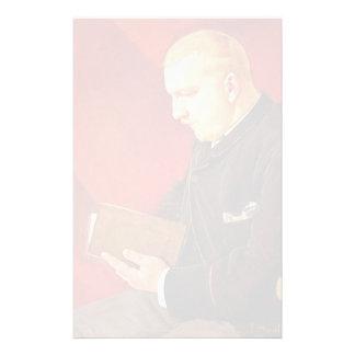 Reading-man by Ferdinand Hodler Stationery