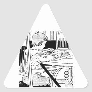 Reading Means You Are Never Handicapped Triangle Sticker
