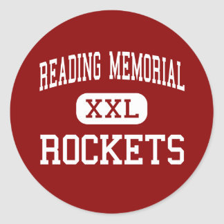 Reading Memorial - Rockets - High - Reading Classic Round Sticker