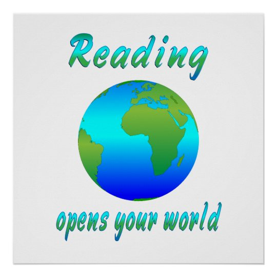 READING Opens Worlds Poster