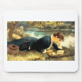 Reading Or Fishing? Mouse Pad