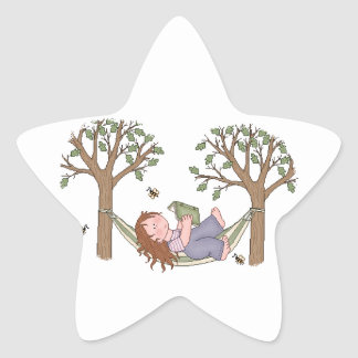 Reading Outdoors Is Fun! Star Sticker