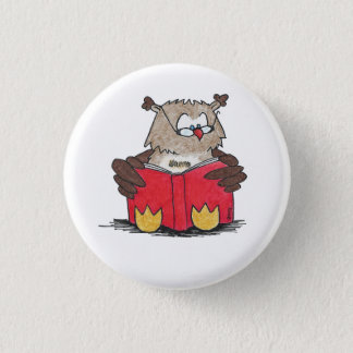 READING OWL button by Nicole Janes