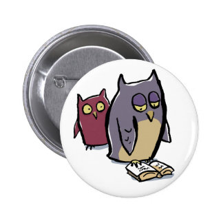 reading owls button