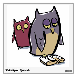 reading owls room graphics