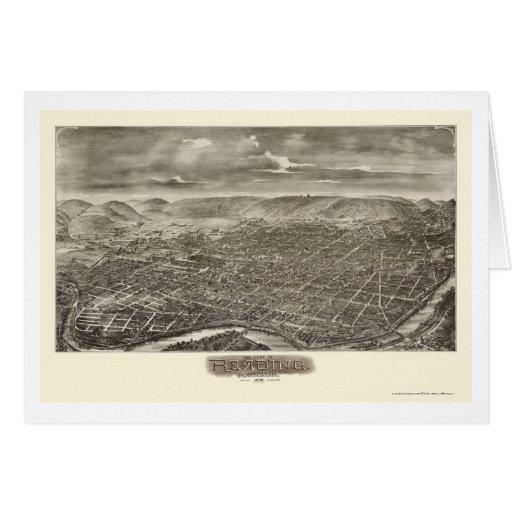 Reading, PA Panoramic Map - 1898 Card