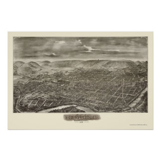 Reading, PA Panoramic Map - 1898 Posters