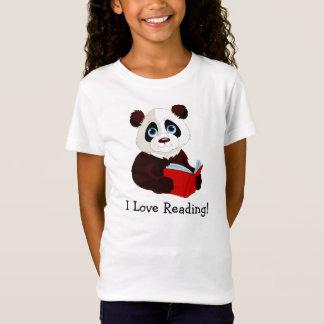 Reading Panda Design Clothing T-Shirt