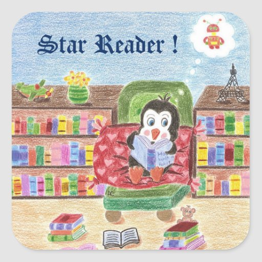 Reading penguin , Star Reader , reward stickers