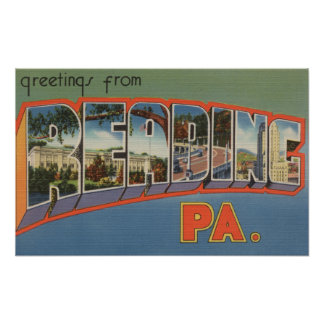 Reading, Pennsylvania - Large Letter Scenes Print