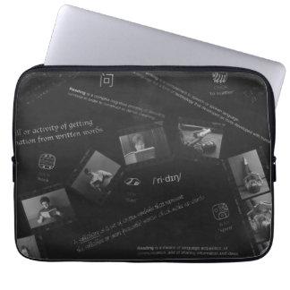 Reading Photogram Laptop Sleeve