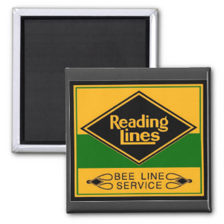 Reading Railroad,Bee Line Service 2 Inch Square Magnet