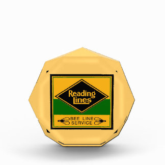 Reading Railroad,Bee Line Service Acrylic Award