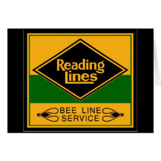 Reading Railroad,Bee Line Service Greeting Card