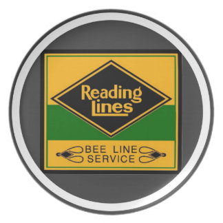 Reading Railroad,Bee Line Service Melamine Plate