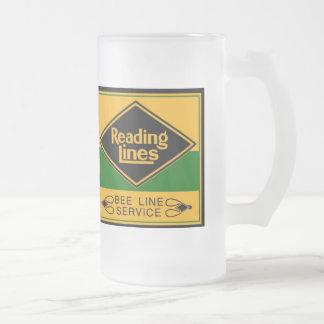 Reading Railroad,Bee Line Service Mugs