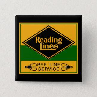 Reading Railroad, Bee Line Service Pinback Button