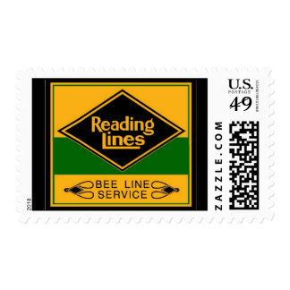 Reading Railroad,Bee Line Service Postage