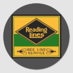 Reading Railroad, Bee Line Service Classic Round Sticker