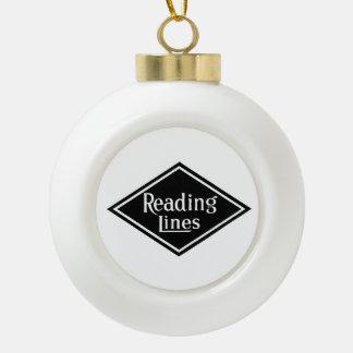 Reading Railroad Company Logo Ball Ornament