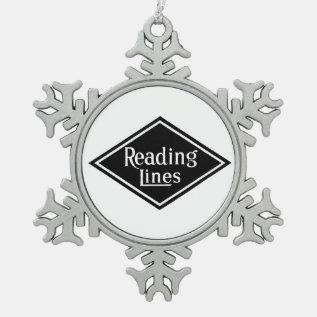 Reading Railroad Company Logo Pewter Ornament at Zazzle