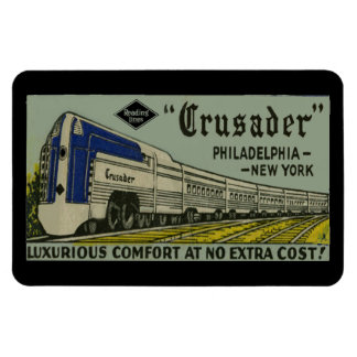Reading Railroad Crusader 1937 Magnet