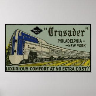 Reading Railroad Crusader 1937 Poster