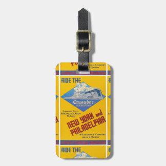 Reading Railroad Crusader Train 1937 Bag Tag