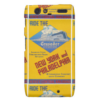 Reading Railroad Crusader Train 1937 Motorola Droid RAZR Cover