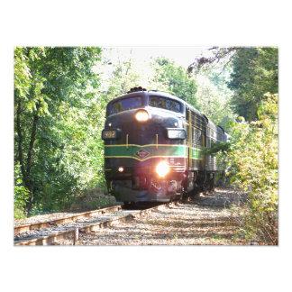 Reading Railroad FP7 Diesel Locomotive 902 Kodak Art Photo
