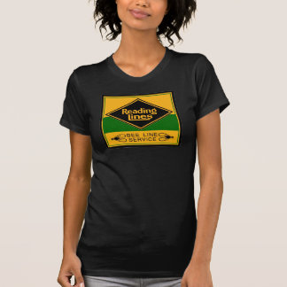 Reading Railroad Lines Bee Line Black Ladies T-Shirt