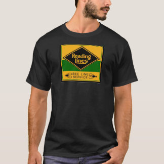 Reading Railroad Lines, Bee Line Service Black T-Shirt
