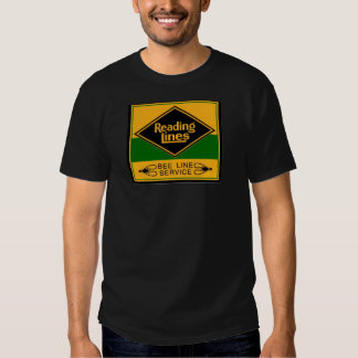 Reading Railroad Lines, Bee Line Service Black Tshirts