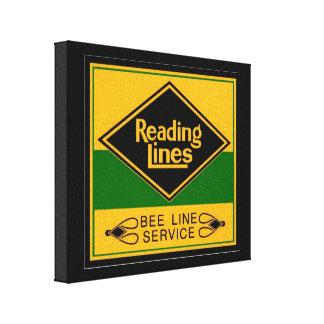 Reading Railroad Lines, Bee Line Service Canvas Prints