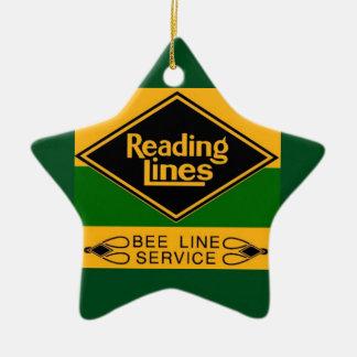 Reading Railroad Lines, Bee Line Service Ceramic Ornament