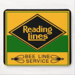 Reading Railroad Lines, Bee Line Service Mouse Pad
