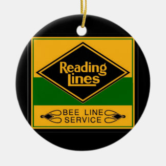 Reading Railroad Lines Bee Line Service Christmas Tree Ornaments