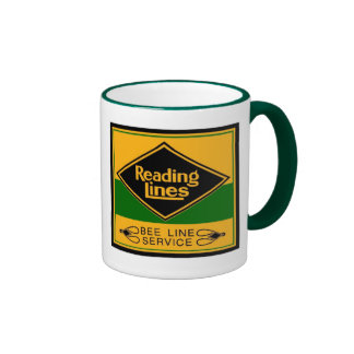Reading Railroad Lines, Bee Line Service Ringer Coffee Mug