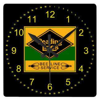 Reading Railroad Lines, Bee Line Service Wall Wall Clocks