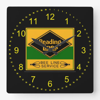 Reading Railroad Lines, Bee Line Service Wall Square Wall Clock